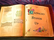 Gazpacho Stands Up Free Cartoon Picture