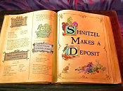 Shnitzel Makes A Deposit Cartoon Picture