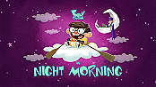 Night Morning Pictures Of Cartoon Characters