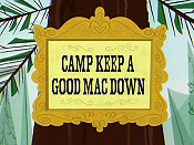 Camp Keep A Good Mac Down Cartoon Picture