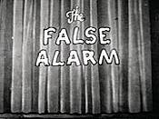 The False Alarm Cartoon Picture