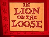 Lion On The Loose Free Cartoon Picture