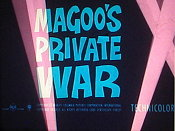 Magoo's Private War Picture Of Cartoon