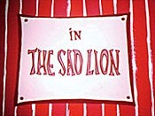 The Sad Lion Cartoon Character Picture