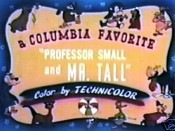 Professor Small And Mister Tall Free Cartoon Pictures