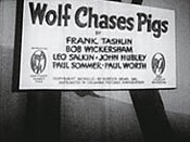 Wolf Chases Pigs Cartoon Picture