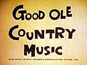 Good Ole Country Music Free Cartoon Picture