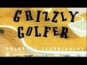 Grizzly Golfer Free Cartoon Picture