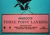 Magoo's Three Point Landing Picture Of Cartoon