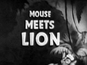 Mouse Meets Lion Cartoon Picture