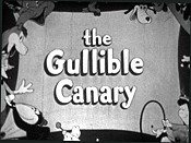 The Gullible Canary Cartoon Picture
