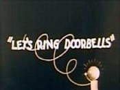 Let's Ring Doorbells Cartoon Character Picture