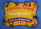 Skeleton Frolics Free Cartoon Picture