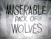 Miserable Pack Of Wolves Cartoon Picture