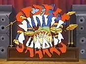 Satellite Sharks Cartoon Picture