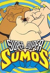 Beach Blanket Sumos Cartoon Picture