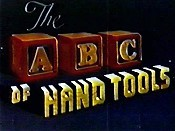 The ABC Of Hand Tools Cartoon Picture