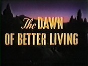 The Dawn Of Better Living Cartoon Picture