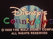 Disney's Countdown Cartoon Character Picture