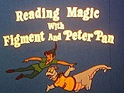 Reading Magic With Figment And Peter Pan Cartoon Character Picture