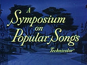 A Symposium On Popular Songs Cartoon Picture