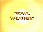 Fowl Weather Picture Into Cartoon