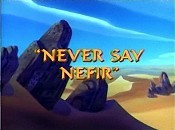 Never Say Nefir Cartoon Character Picture