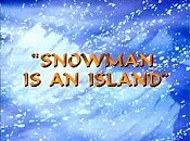 Snowman Is An Island Cartoon Character Picture