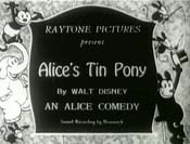 Alice's Tin Pony Free Cartoon Picture