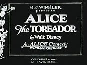 Alice The Toreador The Cartoon Pictures