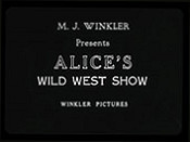 Alice's Wild West Show The Cartoon Pictures