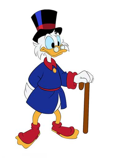 Scrooge McDuck Picture Into Cartoon