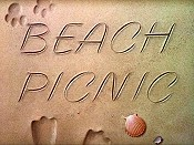 Beach Picnic Picture To Cartoon