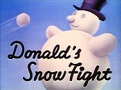 Donald's Snow Fight Free Cartoon Picture