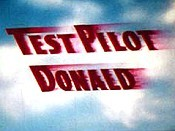Test Pilot Donald Cartoon Character Picture