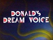 Donald's Dream Voice Cartoon Character Picture