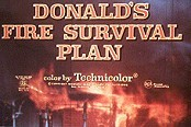 Donald's Fire Survival Plan Cartoon Picture