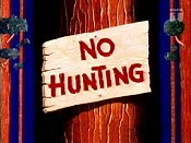 No Hunting Cartoon Character Picture