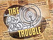 Donald's Tire Trouble Cartoons Picture