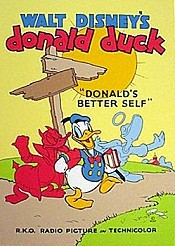 Donald's Better Self Picture Of Cartoon