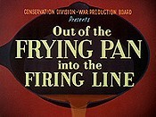 Out Of The Frying Pan Into The Firing Line Cartoon Picture