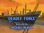 Deadly Force Cartoon Character Picture