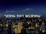 Seeing Isn't Believing Cartoon Picture