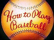 How To Play Baseball Free Cartoon Picture