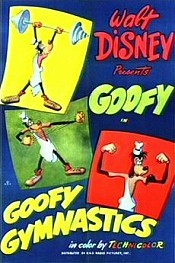 Goofy Gymnastics Cartoon Picture