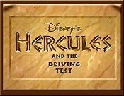 Hercules And The Driving Test Free Cartoon Picture