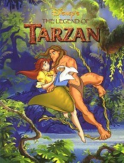 Tarzan And The Fountain Free Cartoon Pictures