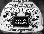 Mickey's Mellerdrammer Picture Of Cartoon