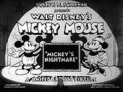 Mickey's Nightmare Picture Of Cartoon