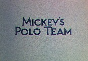 Mickey's Polo Team Picture Of Cartoon